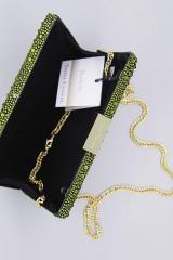 Drexcode - Clutch verde degrade con glitter - Anna Cecere - Noleggio - 3