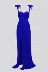 Drexcode - Abito blu bustier con spacco - Cristallini - Noleggio - 6