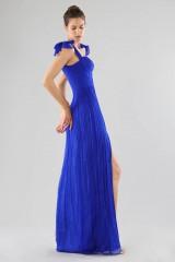 Drexcode - Abito blu bustier con spacco - Cristallini - Noleggio - 3