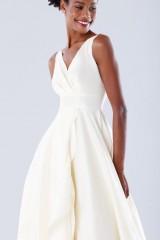 Drexcode - Abito bianco in taffeta con rouches - Daphne - Noleggio - 4