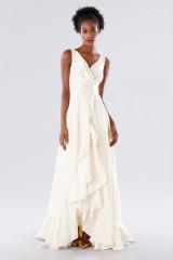 Drexcode - Abito bianco in taffeta con rouches - Daphne - Noleggio - 3