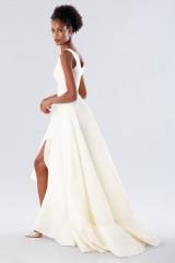 Drexcode - Abito bianco in taffeta con rouches - Daphne - Noleggio - 2