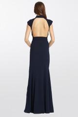 Drexcode - Abito blu con collo alto e scollatura posteriore - ML - Monique Lhuillier - Noleggio - 10