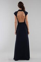 Drexcode - Abito blu con collo alto e scollatura posteriore - ML - Monique Lhuillier - Noleggio - 2