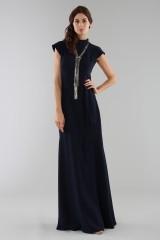 Drexcode - Abito blu con collo alto e scollatura posteriore - ML - Monique Lhuillier - Noleggio - 7