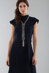 Drexcode - Abito blu con collo alto e scollatura posteriore - ML - Monique Lhuillier - Noleggio - 4