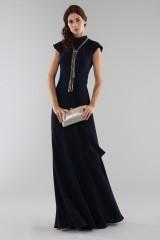 Drexcode - Abito blu con collo alto e scollatura posteriore - ML - Monique Lhuillier - Noleggio - 1