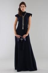 Drexcode - Abito blu con collo alto e scollatura posteriore - ML - Monique Lhuillier - Noleggio - 5