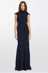Drexcode - Abito blu con collo alto e scollatura posteriore - ML - Monique Lhuillier - Noleggio - 9