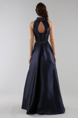 Drexcode - Abito blu con collo alto e scollatura a goccia posteriore - ML - Monique Lhuillier - Noleggio - 6