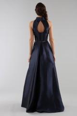 Drexcode - Abito blu con collo alto e scollatura a goccia posteriore - ML - Monique Lhuillier - Vendita - 6