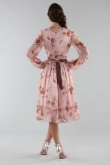 Drexcode - Abito rosa con fantasia floreale e rouches - Luisa Beccaria - Noleggio - 6