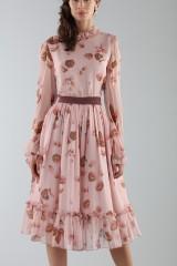 Drexcode - Abito rosa con fantasia floreale e rouches - Luisa Beccaria - Noleggio - 5