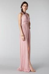 Drexcode - Abito rosa in seta con spacco e trasparenze - Cristallini - Noleggio - 5