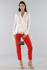 Drexcode - Camicia bianca con drappeggio laterale - 3.1 Phillip Lim - Vendita - 1