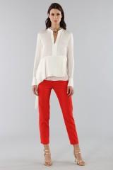 Drexcode - Camicia bianca con drappeggio laterale - 3.1 Phillip Lim - Vendita - 4