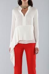 Drexcode - Camicia bianca con drappeggio laterale - 3.1 Phillip Lim - Vendita - 3