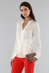 Drexcode - Camicia bianca con drappeggio laterale - 3.1 Phillip Lim - Vendita - 2