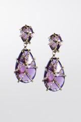Drexcode - Orecchini con cristallo viola - Rosantica - Noleggio - 1