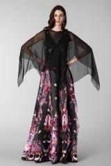 Drexcode - Copri abito in chiffon nero - Alberta Ferretti - Noleggio - 1
