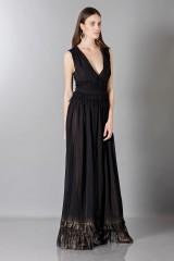Drexcode - Vestito nero lungo con scollo a V - Alberta Ferretti - Noleggio - 4