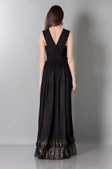 Drexcode - Vestito nero lungo con scollo a V - Alberta Ferretti - Noleggio - 2