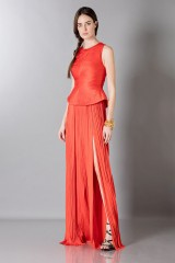 Drexcode - Abito rosso con scollo posteriore - Maria Lucia Hohan - Noleggio - 3
