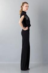 Drexcode - Jumpsuit nera con collo asimmetrico - Vionnet - Noleggio - 3