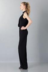 Drexcode - Jumpsuit nera con collo asimmetrico - Vionnet - Noleggio - 5