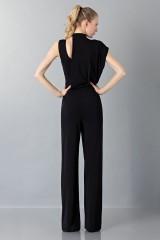 Drexcode - Jumpsuit nera con collo asimmetrico - Vionnet - Noleggio - 2