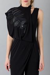 Drexcode - Jumpsuit nera con collo asimmetrico - Vionnet - Noleggio - 4