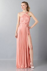 Drexcode - Abito rosa con scollo intrecciato - Maria Lucia Hohan - Noleggio - 1