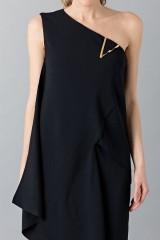Drexcode - Vestito lungo monospalla nero - Vionnet - Noleggio - 7