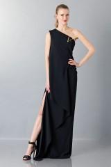 Drexcode - Vestito lungo monospalla nero - Vionnet - Noleggio - 4