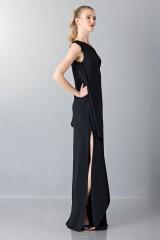Drexcode - Vestito lungo monospalla nero - Vionnet - Noleggio - 6