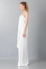 Drexcode - Vestito lungo monospalla bianco - Vionnet - Noleggio - 4