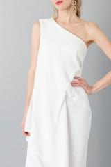 Drexcode - Vestito lungo monospalla bianco - Vionnet - Noleggio - 5
