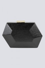 Drexcode - Clutch nera geometrica - Anna Cecere - Noleggio - 2