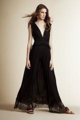 Drexcode - Vestito nero lungo con scollo a V - Alberta Ferretti - Noleggio - 3