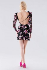 Drexcode - Mini dress a fiori con manica in pizzo - For Love and Lemons - Noleggio - 3