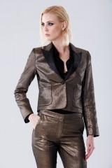 Drexcode - Completo giacca e pantalone dorati  - Giuliette Brown - Noleggio - 2