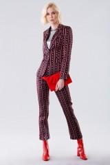 Drexcode - Completo giacca e pantalone con fantasia chain - Giuliette Brown - Noleggio - 1