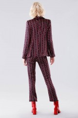 Drexcode - Completo giacca e pantalone con fantasia chain - Giuliette Brown - Noleggio - 3