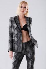 Drexcode - Completo giacca e pantalone con motivo pitonato - Giuliette Brown - Noleggio - 2