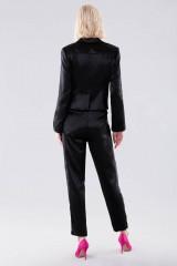 Drexcode - Completo lucido nero con giacca e pantalone - Giuliette Brown - Noleggio - 3