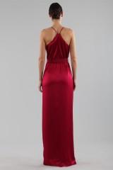 Drexcode - Abito rosso ciliegia in raso - Halston - Noleggio - 4