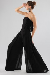 Drexcode - Jumpsuit nera bustier - Halston - Noleggio - 4
