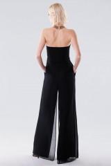 Drexcode - Jumpsuit nera bustier - Halston - Noleggio - 3