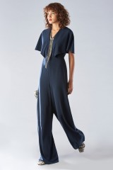 Drexcode - Jumpsuit con manica corta e scollo a V - Halston - Vendita - 1