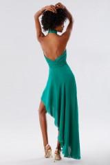 Drexcode - Abito asimmetrico verde con schiena scoperta - Kathy Heyndels - Noleggio - 7